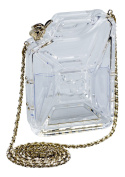 New Chanel Plexiglass Jerrycan Minaudiere Bag with Shoulder Strap