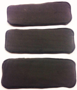 Charcoal Bamboo 5 Layer Nappy Inserts by Rookie Panda - Package of 3
