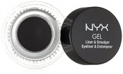 NYX Cosmetics Gel Eyeliner and Smudger, Betty, Jet Black, 5ml