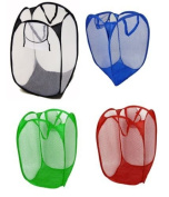 Pop Up Laundry Hamper Colapsible Mesh Foldable Basket Bin Cloths College Camping