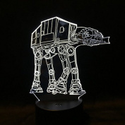 Children Sleep 3D Night Light AT-AT Imperial Walker LED Desk Lamp Home Decor USB Table Lampara