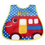 Fullkang Baby Cartoon Soft Bibs Waterproof Burp Cloths Self Feeding Care