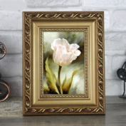 Picture Frame Wood Cherish Time Gold Tabletop Picture Photo Frame For Wedding Gift Home Decor 1 Pcs