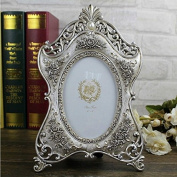 Picture Frame 15cm Resin Oval Metallic Magic Tabletop Resin Picture Photo Frame For Wedding Gift Home Decor 1 Pcs
