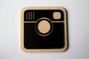 Instagram Logo Pictogram Wood Acryl Frame