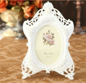 Picture Frame 13cm x 18cm Resin White Vintage Oval Pearl DIY Art For Wedding Gift Home Decor 1 Pcs