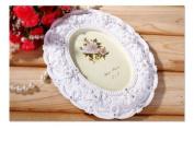 Picture Frame Resin Oval White Desk Floral Elegant Luxury For Wedding Gift Home Decor 1 Pcs