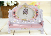 Picture Frame Resin Sofa Chair Design 13cm x 8.9cm Rose Flower Wedding Gift Home Decor 1 Pcs