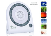 Stella Sleeping Sound and Light Machine, 6 Soothing Nature Sound, 5 Colour LED Lights with Timer, USB cord Included.