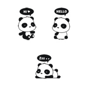 Crqes 1 Pcs HI Panda DIY Switch Sticker Wall Quote Wall Stickers Vinyl Mural Decor Decals