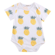 Newborn Unisex Baby Bodysuit Short Fruit Print Sleeve Romper Shirt One Piece Outfit