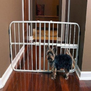 Carlson Pet Products Mini Tuffy Metal Pet Gate, 46cm Tall and Expands from 70cm - 110cm Wide