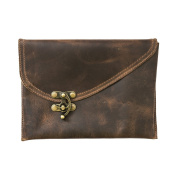 Vintage Leather Clutch Bag Handmade by Hide & Drink :