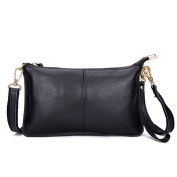 Mynos Genuine Leather Zipper Vintage Small Women Crossbody Purse Bag
