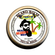 REAL BEARDED MEN 100% Natural Premium Beard Balm 60ml - TROPICAL - Made in USA
