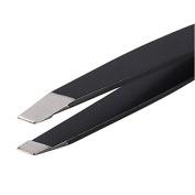 Pinkiou Slanted tip edge Stainless steel Eyebrow Tweezers convenient hair removal