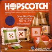 Navy/Cream Hopscotch Cross Stitch Fabric Aida 14 Count 38cm x 38cm
