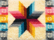 Candamar Designs Quilted Star Latch Hook Needlepoint Rug Kit, 70cm x 50cm