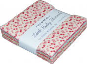 Little Ruby Flannels Charm Pack By Bonnie & Camille; 110cm - 13cm Precut Fabric Quilt Squares