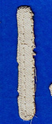 """LETTER """"I"""" - 6.4cm NATURAL colour DISTRESSED LOOK TWILL IRON ON LETTER"""