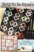 Strip to Be Square Quilt Pattern No. GE-150 by G.E. Designs Iceland Jelly Roll 6.4cm Strip Friendly 110cm x 130cm , 130cm x 180cm , 190cm x 220cm , & 200cm Square