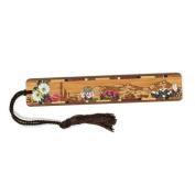 Desert Flowers- Desert Scene Engraved Colour Wooden Bookmark with Tassel
