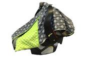 BayB Brand Car Seat Canopy - Grey Arrows w/ Green