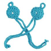Fans Newborn Baby Crochet Heart Foot Flower Footwear for Barefoot Sandals Knitted Cotton