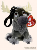 "New TY Beanie Boos Cute TY Beanie Baby - SVEN Reindeer (Disney Frozen) (Plastic Key Clip - 5 inch) Plush Toys 5"" 12cm Ty Plush Animals Big Eyes Eyed Stuffed Animal Soft Toys for Kids Gifts ..."