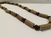 Hazelwood Necklace 60cm Raw Cherry Baltic Amber for adult for Gut issues; Eczema, Acid Reflux, heartburn, and ulcers