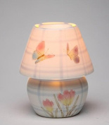 Butterfly and Crocus Lamp with Decorative Lamp Shade Luminaire