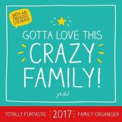 Happy Jackson Official 2017 Family Organiser Square Calendar