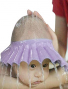 Leoy88 Adjust Shampoo Shower Bathing Bath Protect Soft Cap Hat For Baby