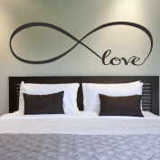 Ussore Wall Sticker 44*120CM Infinity Symbol Word Love Vinyl Art Wall Stickers Home Decor Wall Art For Kids Home Living Room House Bedroom Bathroom Kitchen Office Home Decoration