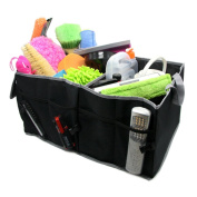 KKmoon Foldable Car Organiser Folding Storage Bag Box 600D Oxford Cloth Container Collapsible Car Boot Bags Backseat and Puschair Organiser