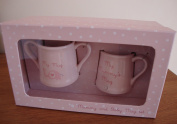 Baby Girl Gift Boxed Mug Set Mummy Mug and My Mug
