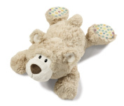 NICI 39088 Lying Plush Bear, Beige