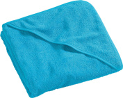 Kinderbutt hooded bath towel terry turquoise size 100x100 cm
