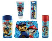 Paw Patrol Bathroom Set - Includes 2 Pack Toothbrush, Toothpaste, Bath & Shower Gel, Foam Soap & Flannel