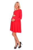 hi!mom Womens Maternity Versatile Shift Dress Long Sleeve Crew Neck Plus Sizes 8-18 FM10