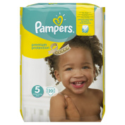 Pampers Premium Protection Nappies Carry Pack, Size 5 - 20 Nappies