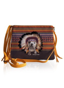 Apache Bag with Fringe - Brown