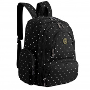 Imyth Large Capacity Baby Bag Travel Nappy Backpack Fit Stroller, Black