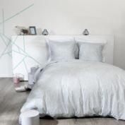 'Paris Price - 3pc Bedding Duvet cover set Geometric White 220x240 cm