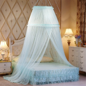 Princess Double Round Curtain Dome Bed Canopy Netting Mosquito Net-Green