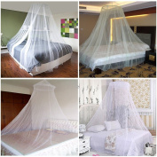 JJOnlineStore - White Romantic Single Double Size Bed Net Holiday Home Canopy Mosquitoes Fly Midges Insect Repel Protection