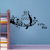 ufengke® Cartoon Anime My Neighbour Totoro Wall Decals, Children's Room Nursery Removable Wall Stickers Murals