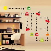 ufengke® Cartoon Pac-Man Games Wall Decals, Children's Room Nursery Removable Wall Stickers Murals