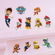 ufengke® Cartoon Patrol Dogs Wall Decals, Children's Room Nursery Removable Wall Stickers Murals