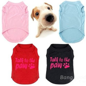 Saver Talk to the Paw Small Paw Print Pet Dog Cat Summer Cotton Vest